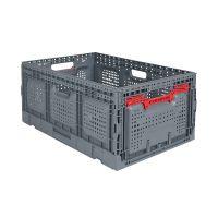 Caixa dobrável 600x400x260mm - perfurada / capacidade 55 litros