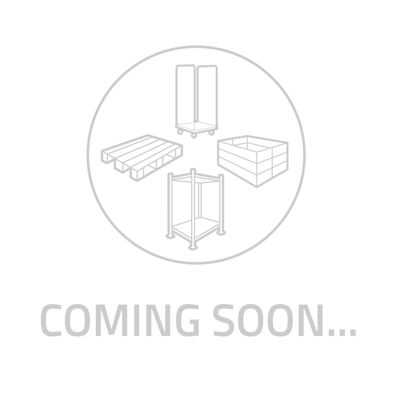 Contentor-palete plástico 1200x800x800mm - 2 patins, paredes e fundo fechados