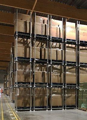 Gestão do espaço de armazém com sistemas de armazenamento de paletes