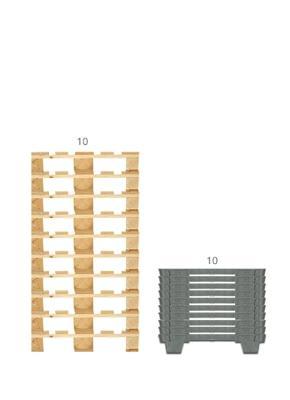 Paletes de madeira ou Paletes de plástico